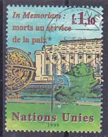 """Nations-Unies Bureau De Genève Suisse, 1999 - In Mémorium """" Morts Au Service De La Paix """" - Zum N° 387 Oblitéré Paire - Gebruikt"""