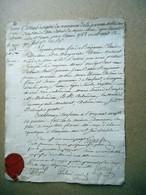 EXTRAIT REGISTRE NAISSANCES NOTRE DAME DE VITRE DUBOURDIEU MALESCOT CACHET CIRE AN II DE LA REPUBLIQUE - Manuscripts