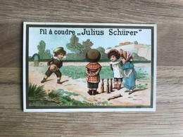 Chromo Calendrier 1885 – Publicité Julius Schürer, Fil à Coudre - Formato Piccolo : ...-1900