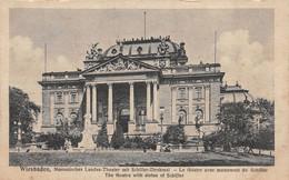 Wiesbaden (Allemagne) - Nassauisches Landes Theater Mit Schiller Denkmal - Wiesbaden