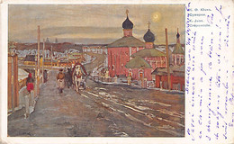 RUSSIA - Red Cross Postcard - Painting K. Juon - Twilight - Publ. Unknown - Russia