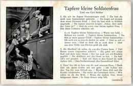 52210089 - Soldat Eisenbahn Liederkarte Tapfere Kleine Soldatenfrau - Guerra 1939-45