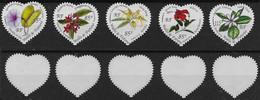 2004 Wallis Et Futuna   N° BF 16 (timbres Seuls) Nf**  MNH . Hibiscus, Ilang-ilang, Frangipanier, Ipomée, Fleur De Tiaré - Unused Stamps