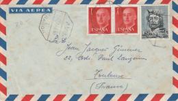 ESPAGNE AFFRANCHISSEMENT COMPOSE SUR LETTRE POUR LA FRANCE 1963 - 1961-70 Cartas