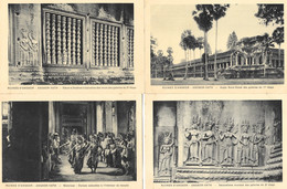 Lot De 24 Cartes - Ruines Du Temple D'Angkor (Angkor-Vath, Vat) Issues D'un Carnet (collection Complète?) Edition Nadal - Cambogia