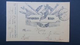 Carte Franchise Militaire 1917 Illustré  Casque Et Lances Obl Tresor Et Postes 164 Pour Rueil - Lettere In Franchigia Militare