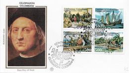 Fdc Filagrano Gold: CELEBRAZIONI COLOMBIANE (1992); No Viaggiata; AS - F.D.C.