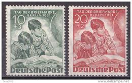 Berlin 1951 - Mi.Nr. 80 - 81 - Postfrisch MNH - Ongebruikt