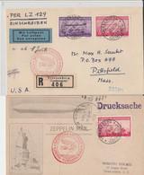 Zeppelin LZ129 Card And Cover Liechtenstein 1936 Flight To US - Cartas