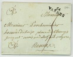 Questembert 54 VANNES 1792 Pour Rennes - 1701-1800: Precursores XVIII