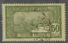 GUADELOUPE ( POSTE ) : Y&T  N°  67  TIMBRE  BIEN  OBLITERE . A  SAISIR . - Usados
