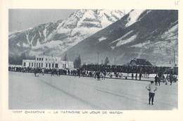 France Postcard Chamonix, La Patinoire Un Jour De Match - Mint (G123-79) - Autres