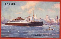 """N.Y.K. LINE.  """"CHICHIBU MARU"""" - Steamers"""