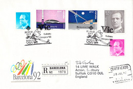 Spain Registered Cover 1992 Barcelona Olympic Games Posted Barcelona 1992 Subseu Olimpica 92 (G124-83) - Ete 1992: Barcelone