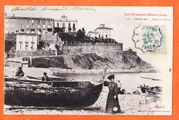 X66345 ⭐ CERBERE (66) Barque Pêche N° 179-P Coin Du Port 1904 à Marius BOUTET-Cliché MINEL LABOUCHE 58 - Cerbere