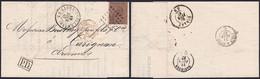 émission 1865 - N°19 Sur LAC à En-tête (Charbonnage Du Val-Benoit ) Obl Pt 230 Liège (Guillemins, 1867) > Carignan - 1865-1866 Profiel Links