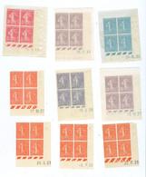 9 Coins Datés N° 189 198 218 278b 362 (côte 80) - 1930-1939
