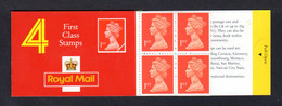 GRANDE-BRETAGNE 1990 - Carnet Yvert C1474a-1 - SG HB3b - NEUF** MNH - Barcode Booklet With 4 NVI 1st Class Stamps - Carnets