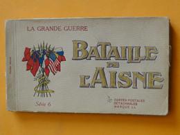 Militaria - Guerre 14 - 18 -- Carnet Complet De 20 Cpa - La Bataille De L'Aisne - Série 6 - Edition LL - Guerra 1914-18