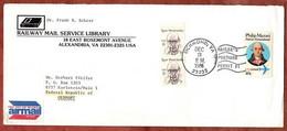Luftpost, Illustrierter Umschlag Buch, Mazzei U.a., Richmond Nach Karlstein 1986 (4619) - Brieven En Documenten