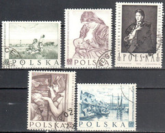 Poland 1959 - Paintings By Polish Artists - Mi 1102-1106- Used - Used Stamps