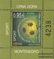 Montenegro Block15 (complete Issue) Unmounted Mint / Never Hinged 2014 Football WM Brazil - Montenegro