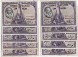 Lot De 10 Billets  ESPAGNE De 100 Pesetas De 1928  ( Neuf )   (idem Au Modèle) - 100 Pesetas