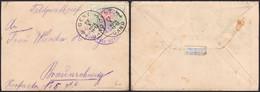 """Chemin De Fer - TR31 Sur Feldpostbrief Obl S.C. """"Gent / Gand"""" (1914) + Censure > Allemagne / Pas Courant ! - 1895-1913"""