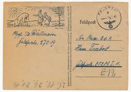 ALLEMAGNE - Carte De Franchise Militaire FELDPOST Illustrée - 1943 - Covers & Documents