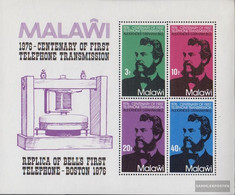 Malawi Block43 (complete Issue) Unmounted Mint / Never Hinged 1976 100 Years Phone - Malawi (1964-...)