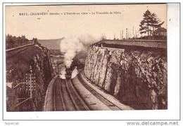 REF11.162  SAVOIE .  CHAMBERY  L'ENTREE EN GARE .LA TRANCHEE DE NEZIN - Chambery