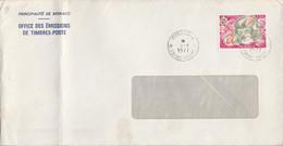 MONACO SEUL SUR LETTRE POUR LA FRANCE 1977 - Covers & Documents