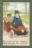 CARTE POSTALE HUMOUR FANTAISIE EDITEUR KF PARIS SERIE 1409 METTEZ VOTRE BELLE MERE EN AVANT - Humour
