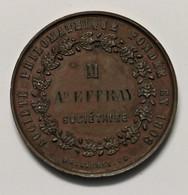 Médaille De La Société Philarmonique Fondée En 1908 BORDEAUX, Sociétaire M. Ad. EFFRAY, RARE - Professionals / Firms