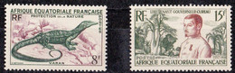 ⭐ AEF - YT N° 230 Et 231 ** - Neuf Sans Charnière - 1954 / 1955 ⭐ - Unused Stamps