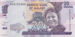 Malawi Bankbiljet 20 Kwacha 2019 UNC, Pick New - Malawi
