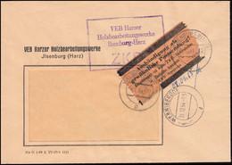 ZKD-Brief VEB Harzer Holzbearbeitungswerke ILSENBURG/HARZ 31.12.64, Fensterbrief - Official