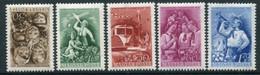 HUNGARY 1951 International Children's Day MNH / **.  Michel 1165-69 - Nuevos