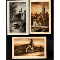 57 - METZ - Lot De 5 Cartes Postales Différentes Illustrations De Metz - Steamers