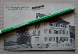 MUNSTER HOTEL SCHMELZWASEN  HAUT RHIN ALSACE ELSASS CARTE ALLEMANDE éditeur Hodel Voyagée En FM - Munster
