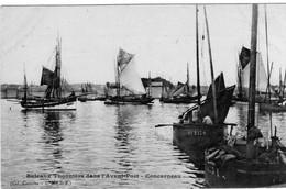 Concarneau Bateaux Thonniers Dans L'avant Port - Concarneau