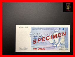 "BOSNIA 50 Konvertibilnih Pfeniga 1998  P. 57   ""perforated And Overprint  Specimen 00529""    UNC - Bosnia Erzegovina"
