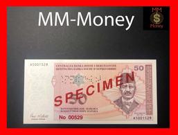 "BOSNIA  50 Konvertibilnih Maraka 1998  P. 67   ""perforated And Overprint  Specimen 00529""    UNC - Bosnia Erzegovina"