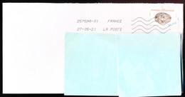 """Timbre Postal Adhésif (2020) """"Faune, Oiseaux, Oeufs D'oiseaux, Oeuf De... Moineau Domestique"""" Seul Sur Lettre - 1961-...."""