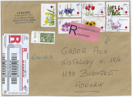 C0338 France Flora Flower Marianne Of Lamouche Women Female Red Cross Registered+Priority - Heilpflanzen