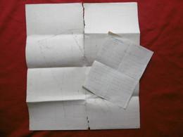 CAMARGUE LE CAILAR MANADE GRANON COMBET LETTRE AUTOGRAPHE CARTE PLAN         MAS Ste ANNE A RAINAUD GEOMETRE 1933 A LIRE - Handtekening