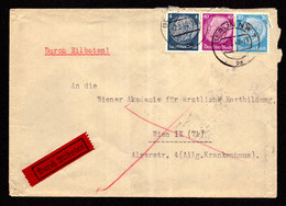 DR Eil-Brief BERLIN NW 7 - Wien - 2.3.40 - Mi.514,489,524 Mit Ankunftsstempel - Covers & Documents
