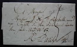 17 St Amand 1815  Marque 38 X 9 Sur Lettre Pour Paris - 1801-1848: Précurseurs XIX