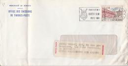 MONACO SEUL SUR LETTRE POUR LA FRANCE 1972 - Covers & Documents