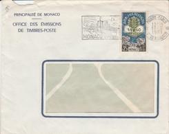 MONACO SEUL SUR LETTRE POUR LA FRANCE 1961 - Covers & Documents
